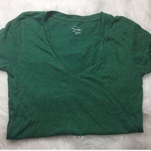 J.crew Vintage Cotton V-neck T-shirt Size XS